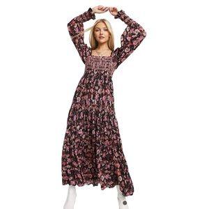 Free People Sweet Escape Puff Sleeve Maxi Dress